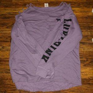 Victoria's Secret PINK cut out sweatshirt